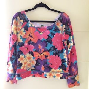 Floral Crop Sweatshirt